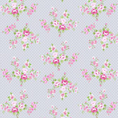 Tanya Whelan PWTW147 Charlotte Spring Bouquet Gray Cotton Quilting Fabric By Yd