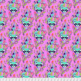 Tula Pink PWTP037All Stars Racoon Fuchsia Cotton Fabric By Yard