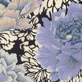 Philip Jacobs PWPJ062 Brocade Peony Gray Cotton Quilting Fabric By Yard