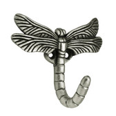 Franklin Brass B46145Y-BSP Brushed Satin Pewter Dragonfly Coat & Hat Hook 5 Pack