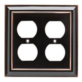 Franklin Brass W10537-OB Oil Rubbed Bronze Architect Double Duplex Cover Plate
