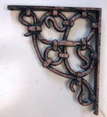 "Liberty 156706 7"" Tartan Shelf Bracket Antique Copper Finish"