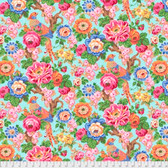 Snow Leopard Roaring 20's PWSL060 Floral Bough Crystaline Cotton Fabric By Yard
