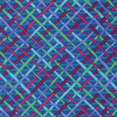 Brandon Mably PWBM037 Mad Plaid Cobalt Quilting Cotton Fabric By The Yard