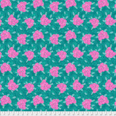 Jennifer Paganelli PWJP132 Judith's Fancy Deborah Teal Cotton Fabric By Yard