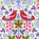 Jane Sassaman Scandia PWJS091 Vinyard Red Cotton Fabric By The Yard
