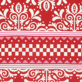Jane Sassaman Scandia PWJS092 Cardigan Red Cotton Fabric By The Yard