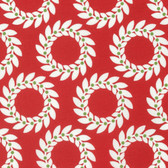 Jane Sassaman Scandia PWJS095 Garland Red Cotton Fabric By The Yard