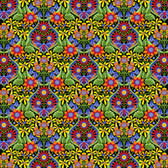 Jane Sassaman Spring Fever PWJS097 Mini Queen Of The May Mexican Fabric By Yard