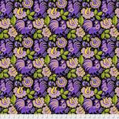 Jane Sassaman Folk Tales PWJS104 Mini Kerchief Purple Cotton Fabric By The Yard