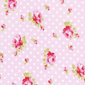 Tanya Whelan TW39 Delilah Buds Pink Cotton Fabric By The Yard
