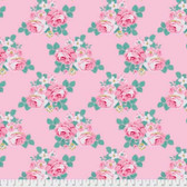 Tanya Whelan Gazebo PWTW150 Gazebo Bouquet Pink Cotton Fabric By The Yard