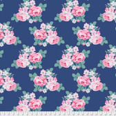 Tanya Whelan Gazebo PWTW150 Gazebo Bouquet Blue Cotton Fabric By The Yard