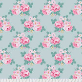 Tanya Whelan Gazebo PWTW150 Gazebo Bouquet Mint Cotton Fabric By The Yard