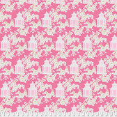 Tanya Whelan Gazebo PWTW151 Gazebo Toile Pink Cotton Fabric By The Yard