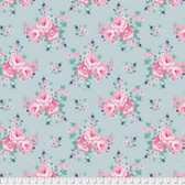 Tanya Whelan Gazebo PWTW152 Blue Sky Floral Mint Cotton Fabric By The Yard