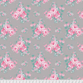 Tanya Whelan Gazebo PWTW152 Blue Sky Floral Stone Cotton Fabric By The Yard