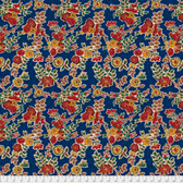 Free Spirit Boston Commons PWFS035 Isabella Blue Cotton Fabric By The Yard