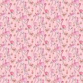Dena Designs Haute Zahara PWDF267 Flamingo Multi Cotton Fabric By Yard