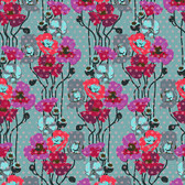 Anna Maria Horner Floral Retrospective PWAH050 Raindrop Poppies Plum Fabric By Yd