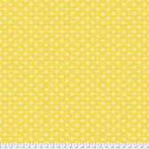 Denyse Schmidt PWDS147 Ludlow Tatoo Dot Yellow Cotton Fabric By Yd