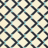 Denyse Schmidt PWDS135 Winter Walk Bow Tie Square Stream Cotton Fabric By Yd
