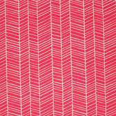 Joel Dewberry PWJD036 Flora Herringbone Poppy Cotton Fabric By Yd