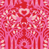 Heather Bailey Hello Love PWHB075 Norwegian Red Cotton Fabric By The Yard