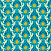 Heather Bailey Hello Love PWHB076 Blackbird Blue Cotton Fabric By The Yard