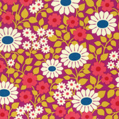Heather Bailey Hello Love PWHB078 Fields Forever Violet Cotton Fabric By Yard