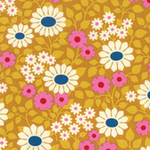 Heather Bailey Hello Love PWHB078 Fields Forever Gold Cotton Fabric By Yard