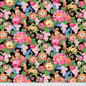 Snow Leopard Roaring 20's PWSL060 Floral Bough Deco Cotton Fabric By Yard