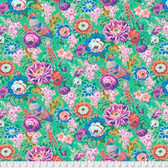 Snow Leopard Roaring 20's PWSL060 Floral Bough Jazz Cotton Fabric By Yard