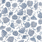 Shannon Newlin Floral Waterfall PWSN007 Flower Blue Cotton Fabric By Yd