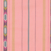 Anna Maria Horner WOAH016 Loominous Tribe Bubblegum Cotton Fabric By Yd