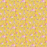Dena Designs Haute Zahara PWDF267 Flamingo Mustard Cotton Fabric By Yard