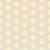 Erin McMorris PWEM099 Sugar Parallel Dots Lemon Cotton Fabric By The Yard