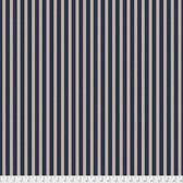 Morris & Co. Kelmscott PWWM007 Gilt Stripe Navy Cotton Fabric By Yd
