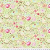 Laura Heine The Dress PWLH002 Garden Green Cotton Fabric By Yd