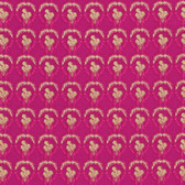 Nel Whatmore PWNW085 Ghost Verbena Raspberry Cotton Fabric By Yard