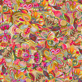 Shannon Newlin Floral Waterfall PWSN001 Original Bright Cotton Fabric By Yd