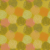 Shannon Newlin Floral Waterfall PWSN005 Dots Olive Cotton Fabric By Yd
