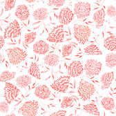 Shannon Newlin Floral Waterfall PWSN007 Flower Pink Cotton Fabric By Yd