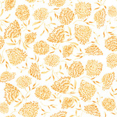Shannon Newlin Floral Waterfall PWSN007 Flower Yellow Cotton Fabric By Yd