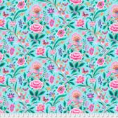 Margot Elena Stories & Songbirds PWME006 Skylark Robin's Egg Fabric By Yd