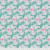 Tanya Whelan Gazebo PWTW151 Gazebo Toile Green Cotton Fabric By The Yard