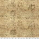 "Tim Holtz QBTH004 Script Neutral 108"" Wide Quilt Backing Fabric By The Yard"