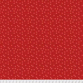 Coats PWCC013 Daisy Dazy Daisies Red Cotton Quilting Fabric By Yd