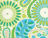 Dena Designs DF95 Kumari Garden Sanjay Blue Cotton Fabric By Yard