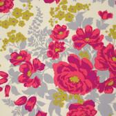 Joel Dewberry PWJD047 Flora Rose Bouquet Poppy Cotton Fabric By Yd